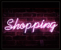 SHOPPING Neon Sign
